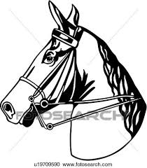 Clipart of animal breeds head horse tack u Search