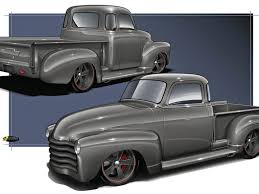 100 Chevy Hot Rod Truck Busted Knuckles 1950 Style Five Window Classic