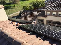 clean solar panel install on concrete tile roof yelp