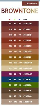 Brown Tone Color Schemes Combinations Palettes For Print CMYK And Web RGB HTML