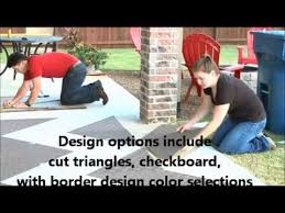 outdoor patio carpet tile installation by cwf flooring inc youtube