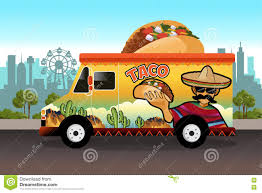 Taco Food Truck Stock Vector. Illustration Of Food, Cartoon - 72658387