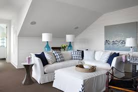 Southern Living Family Rooms by Living Room Sloped Ceiling Design Ideas