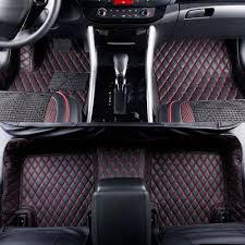 100 Custom Floor Mats For Trucks 20152019 D F150 Leather Fit Black W Red