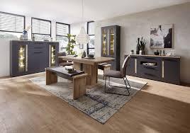 loft two esszimmer inkl led beleuchtung graphit abs artisan eiche günstig möbel küchen büromöbel kaufen froschkönig24