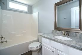 Gray And Teal Bathroom by First Floor Master Homes Raleigh U2013 Stanton Homes
