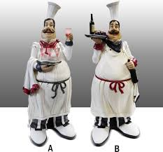 Statues Figurines Americana Kitchen Decor Chef John Deere Image Of Complete Sets