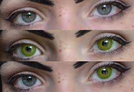 cat contacts contact lenses green camoeyes