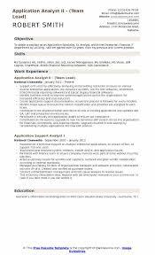 software team leader resume pdf application analyst resume sles qwikresume