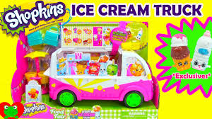 100 Toy Ice Cream Truck Shopkins Season 3 YouTube
