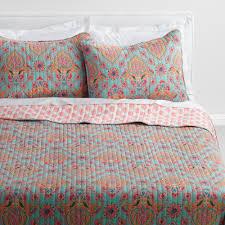 World Market Luxe Sofa Slipcover Ebay by Coral And Aqua Bhuti Priti Reversible Quilt World Market