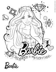 Dibujos Para Colorear Barbie Con Su Perro Eshellokidscom