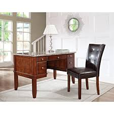 Sauder Graham Hill Desk Autum Maple Finish by Steve Silver Montibello Marble Top Writing Desk With Optional