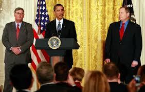 david m cote and sam palmisano photos photos obama speaks on