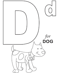 D For Dog Printable Alphabet Coloring Pages