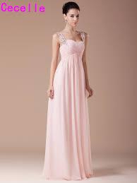 popular pink long bridesmaid dresses buy cheap pink long