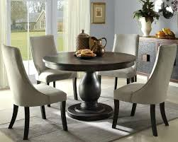 Round Dining Table 4 Chairs Room Designs Fabulous Option Of Decoration On Wood