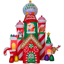 Holiday Living 105ft Lighted Castle Christmas Inflatable At Lowescom