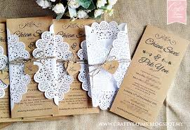 Doily Inspired Brown Rustic Wedding Cards For Garden Malaysia