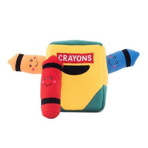 ZippyPaws Zippy Burrow Crayon Box Dog Toy