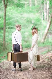 Bride And Groom Woodland Bohemian Elopement Inspiration
