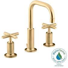 Bathroom Sink Taps Home Depot by Kohler Purist 8 In Widespread 2 Handle Bathroom Faucet In