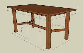 Dining Room Tables Sizes by Using Google U0027s Sketchup With Woodworking Custom Furniture And