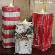 Rustic Wood Christmas Candlesthese Are The BEST Homemade Holiday Decorations