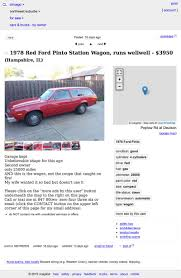 How About This Blast From The Past 1978 Ford Pinto Wagon For $3,950? Craigslist Washington Dc For Sale By Owner Used Cars Available Car Sale Pages Acurlunamediaco Luxury Albany New York And Trucks Images Classic 1966 Ford Mustang For On Classiccarscom Dallas Best Image Chicago Appliances And Fniture By Phoenix Truck Kusaboshicom Creepy Ad Seeks Women To Cruise The Restaurant 1920 Car Update This 1991 Pontiac Grand Prix On Is 50 Percent Off The Drive