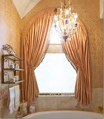 Curved Curtain Rod For Arched Window Treatments by Wonderful Curtains For Round Windows Decor With Blog Curtain Ideas