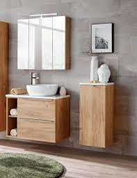 badmöbel set 6 tlg badezimmerset perugia gold eiche inkl waschbecken