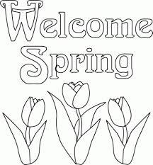 Easy Printable Spring Coloring Pages For Children La4xx