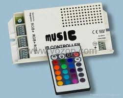 wholesale white music sound IR remote RGB LED light controller