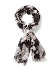 black floral oblong scarf cleo