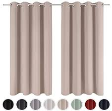blumtal 2er set gardinen verdunkelungsvorhang blickdicht eleganter vorhang mit ösen für schlafzimmer 175 x 140 cm taupe