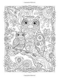 Creative Haven Owls Coloring Book Artwork By Marjorie Sarnat Owl Pages For Adults