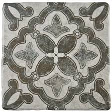 merola tile costa cendra decor clover 7 3 4 in x 7 3 4 in