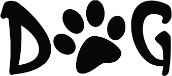 Text Dog Paw Print Clipart
