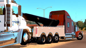 Kenworth W900 Wrecker + Load Mod American Truck Simulator - YouTube