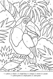 90 Color By Number Bird Coloring Pages