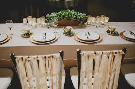 This Rustic Yet Elegant Wedding Kept Each Place Setting Simple With White And Gold Plates