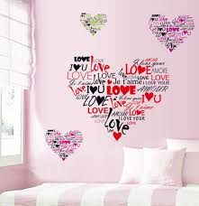 The Sweet Love Heart Quote Words Wall Sticker Hot Selling Home Decal Art Vinyl DIY Bedroom