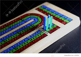 Games And Gambling Cribbage Board Partly Shadowed