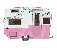 Clipground Caravan Vintage Rv Clipart Cute Glass Egg Camper Travel Trailer Postcard Camping Jpg