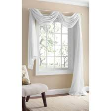 Walmart Better Homes And Gardens Sheer Curtains by Better Homes And Gardens Lace Fan Print Panel Walmart Com