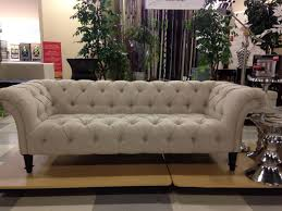 Nicole Miller Sofa tufted linen I purchased this exact sofa at