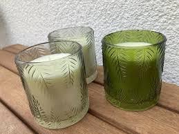 3 kerzen im glas neu grün badezimmer licht deko teelicht bad
