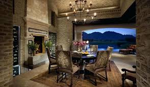 Mediterranean Dining Room Old Brick Sets Reference Idea For With Veneer
