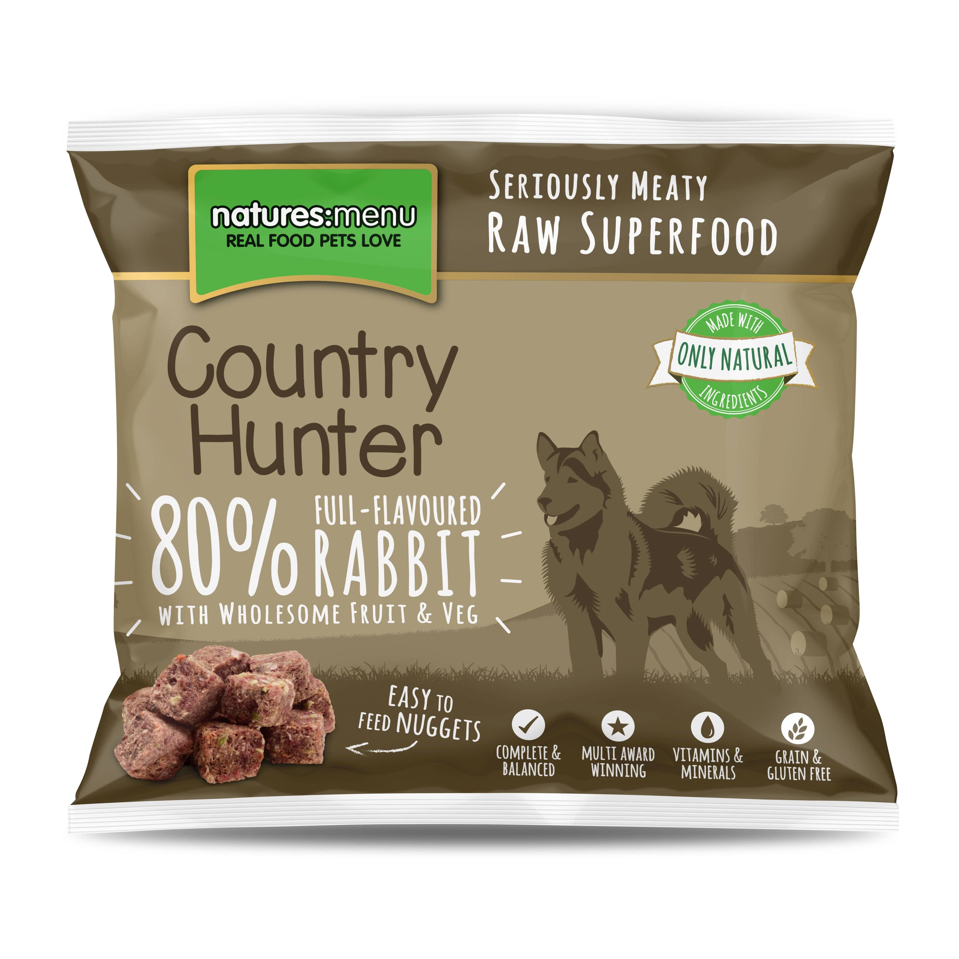 Country Hunter Raw Nuggets Rabbit 1kg