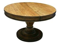Zinc Pedestal Table Weathered Round Dining Top Ace Wisteria